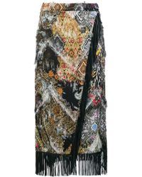 Etro - Fringed Wrap Skirt - Lyst