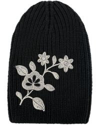 DSquared² - Embroidered Flower Beanie - Lyst
