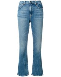 T By Alexander Wang - Classic Cropped Denim Jeans - Lyst