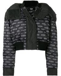 Versus - Monogram Cropped Puffer Jacket - Lyst