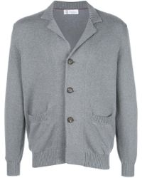Brunello Cucinelli - Button Knitted Cardigan - Lyst