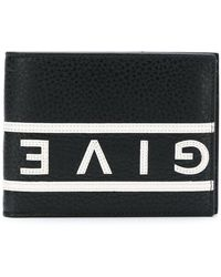 Givenchy - Reverse Logo Grained Leather Wallet - Lyst