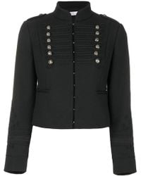 RED Valentino - Cropped Braided Military Jacket - Lyst