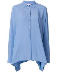 Erika Cavallini Semi Couture - Asymmetric Hem Shirt - Lyst