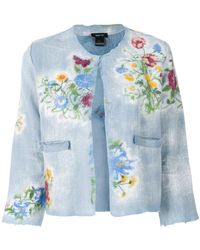 Avant Toi - Floral Print Cropped Jacket - Lyst