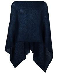 Al Duca d'Aosta - Semi-sheer Knitted Short Cape - Lyst