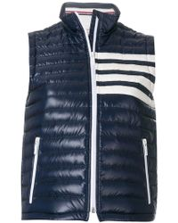 Thom Browne - Satin-finished Quilted Down Fill Vest In Nylon Tech - Lyst