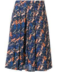 Peter Jensen - Cat Print Pleated Skirt - Lyst