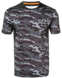 EA7 - Camouflage T-shirt - Lyst