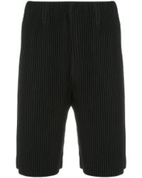 Homme Plissé Issey Miyake - Pleated Slim-fit Shorts - Lyst