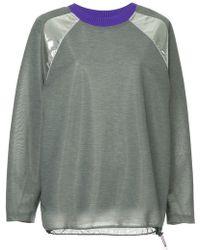 Kolor - Shiny Epaulettes Sweatshirt - Lyst