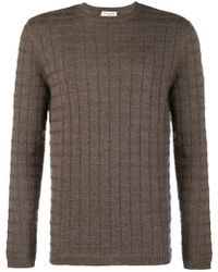 Al Duca d'Aosta - Textured Crew Neck Sweater - Lyst