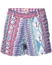 Le Sirenuse - Embroidered Shorts - Lyst