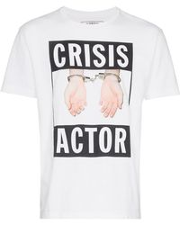 Neighborhood - X Cali Crisis Actor And Hand Printed Cotton Tshirt - Lyst