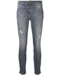 Closed - Distressed Skinny Jeans - Lyst