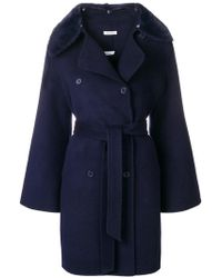 P.A.R.O.S.H. - Double-breasted Belted Coat - Lyst
