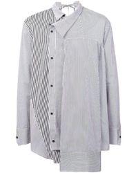 BMUET(TE) - Striped Asymmetric Shirt - Lyst