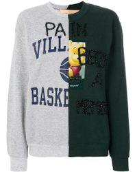 Night Market - Beaded Print Patchwork Sweatshirt - Lyst
