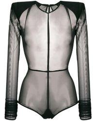 Ann Demeulemeester - Transparent Bodysuit - Lyst