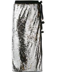Nude - '' Embellished Midi Skirt - Lyst