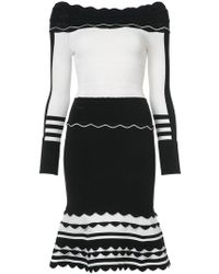 Yigal Azrouël - Striped Knit Dress - Lyst