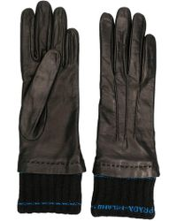 Prada - Logo Fitted Gloves - Lyst