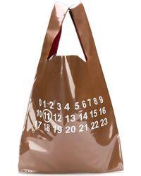 Maison Margiela - Glänzender Shopper mit Nummern-Print - Lyst