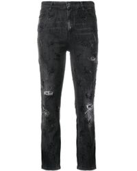 Amen - Distressed Cropped Jeans - Lyst