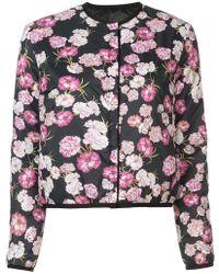 Giambattista Valli - Collarless Floral Jacket - Lyst