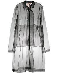 N°21 - Sheer Zip-front Coat - Lyst