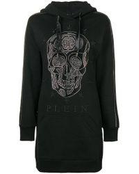 Philipp Plein - Tunic-length Hoodie - Lyst