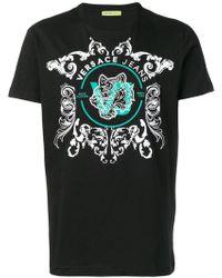 Versace Jeans - T-Shirt mit barockem Print - Lyst