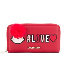 Love Moschino - Love Zipped Wallet - Lyst