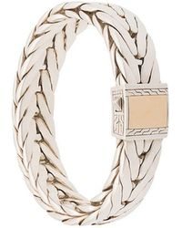John Hardy - Silver Modern Chain Extra-large Bracelet With 18k Yellow Gold Clasp - Lyst
