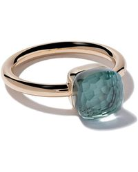 Pomellato - 18kt Rose Gold Small Nudo Light Blue Topaz Ring - Lyst