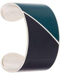 Lanvin - Colour-block Cuff Bracelet - Lyst