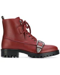 Trussardi - Buckled Ankle Boots - Lyst