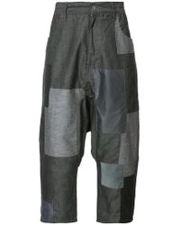 Mostly Heard Rarely Seen - Patchwork Cropped Trousers - Lyst