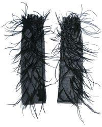 J. Mendel - Gants à plumes - Lyst