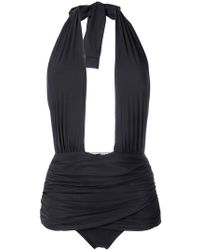 Alberta Ferretti - Halterneck Swimsuit - Lyst