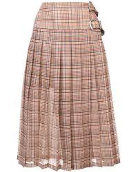 Toga - Plaid Print Pleated Skirt - Lyst