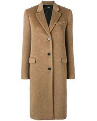 Jil Sander Navy - Classic Single Breasted Coat - Lyst