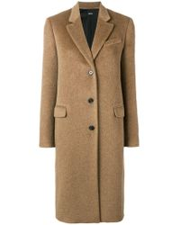 Jil Sander Navy - Classic Single Breasted Coat - Lyst