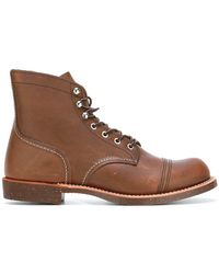 Red Wing - Iron Ranger Lace Up Boots In Copper Leather - Lyst