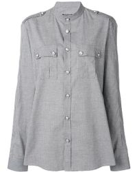 Balmain - Military Style Shirt - Lyst