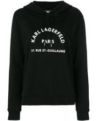 Karl Lagerfeld - Logo Print Hoodie - Lyst