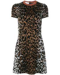Stella McCartney - Cheetah Print Jacquard Dress - Lyst