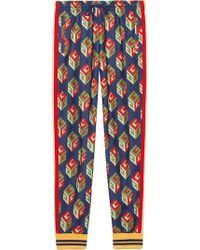 Gucci - Pantalone In Jersey Tecnico Con Stampa Gg Wallpaper - Lyst