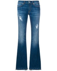 Dondup - Distressed Bootcut Jeans - Lyst