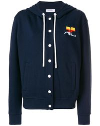 Courreges - Embroidered Hoodie - Lyst